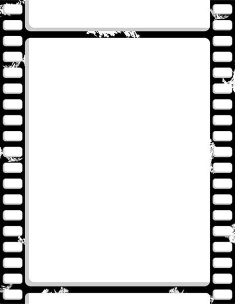 printable film strip border free gif jpg pdf and png
