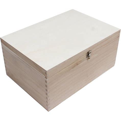 25 Home Decor by Wooden Storage Box 35 X 25 X 17 Cm Hobbycraft