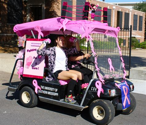 Golf Carts Decorated For by Usm S Many Efforts To Fight Breast Cancer The Student Printz