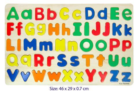Letter Puzzles alphabet puzzle lowercase woodland toys