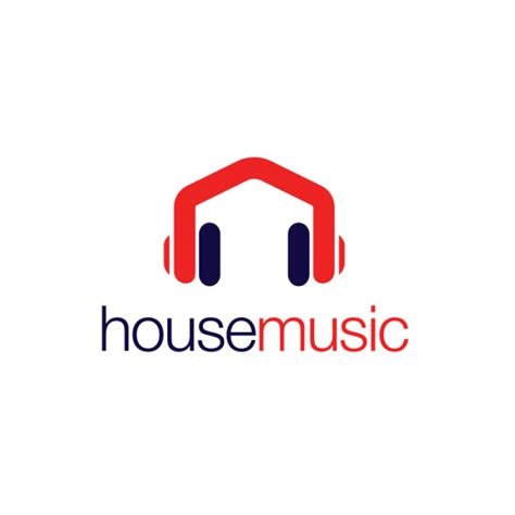 house music web house music headphones logo design logo cowboy