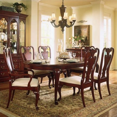 american drew cherry grove dining room american drew cherry grove 7 piece oval casual dining set