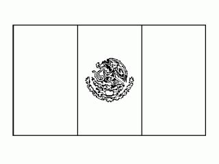 mexico flag coloring page with key mexican flag black and white collection 68