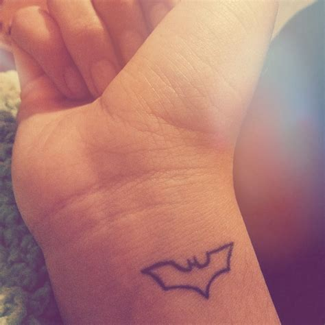 simple and small tattoos my small batman tattoos