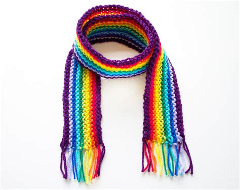 purple rainbow pixie scarf rainbow scarf for a child