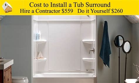 how much to replace a bathtub cost to install a tub surround want to replace old