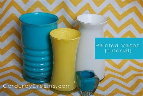 How To Paint Inside Glass Vases by How To Paint A Glass Vase Tutorial The Creative