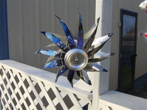 Handmade Wind Spinners - energy wind spinner aluminum can crafts