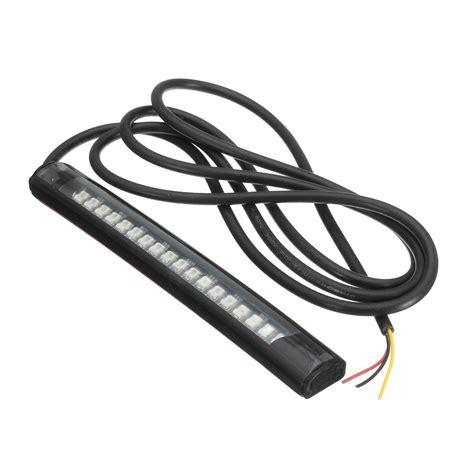 led motorcycle brake lights strips 18 led motorcycle atv brake stop turn signal light alexnld