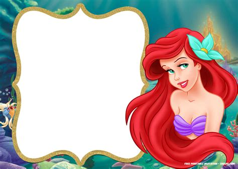 Free Printable Ariel Little Mermaid Invitation Template Bagvania Free Printable Invitation Free Mermaid Invitation Templates