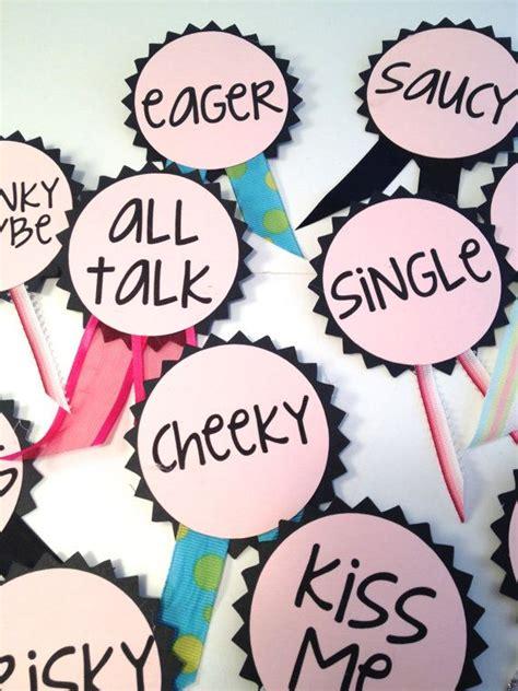 printable hens night name tags bachelorette party pins name tags bachelorette sash