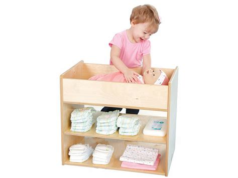 baby doll changing table wood birch doll changing table play with a purpose