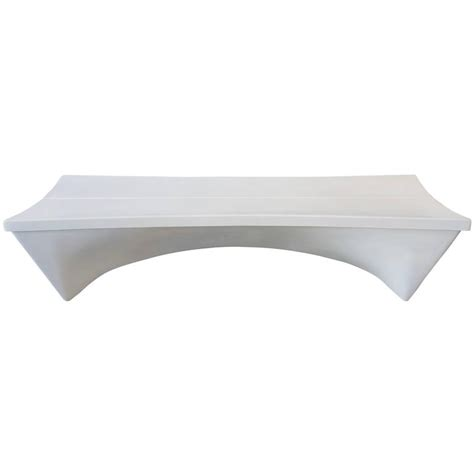 fiberglass benches architectural fiberglass bench by douglas deeds at 1stdibs
