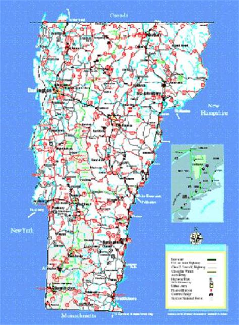 road map of vt pin vermont road map see details from infohubcom on
