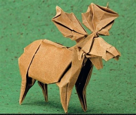 Origami Moose - adirondack moose 183 extract from origami animal sculpture