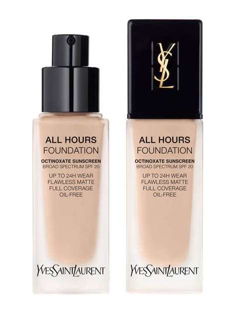ysl all hours foundation 25ml all hours coverage matte foundation ysl