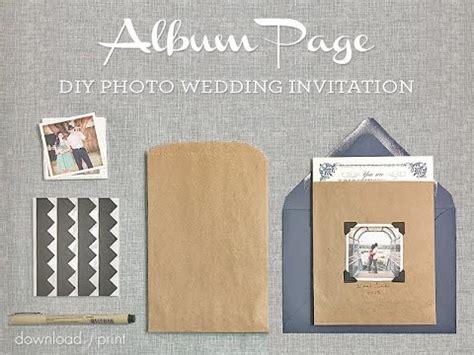 diy wedding invitation printing diy photo wedding invitation album page style