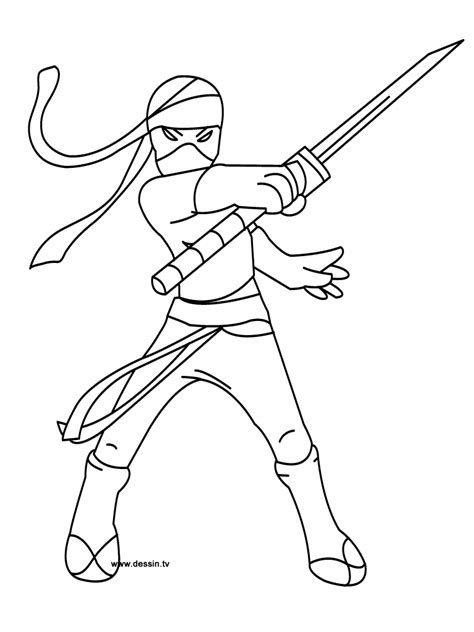 coloring pages of ninja warriors ninja warrior coloring pages for kids 10993