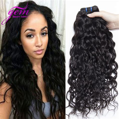 wet and wavy human hair weave hairstyles indian virgin hair water wave 3pcs lot wet and wavy human