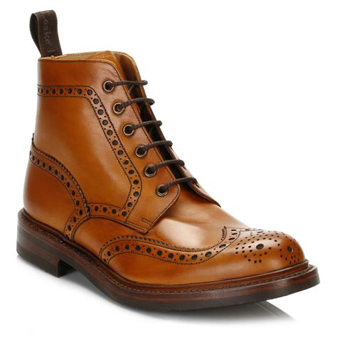 loake mens bedale leather brogue boots