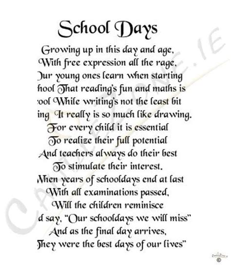 school day poems or quotes quotesgram