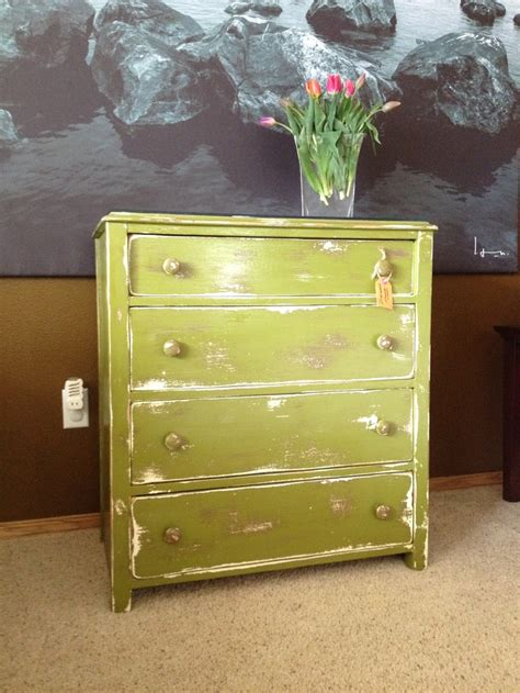 Distressed Green Dresser by Moss Green Distressed Dresser Decorating Ideas