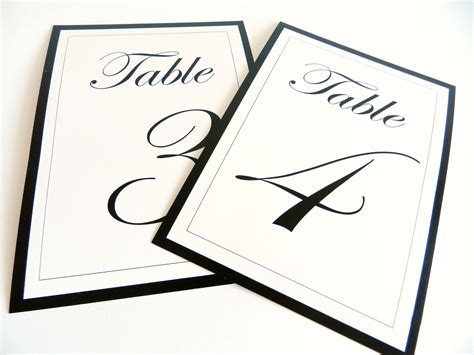 wedding table numbers template 4x6 table number template