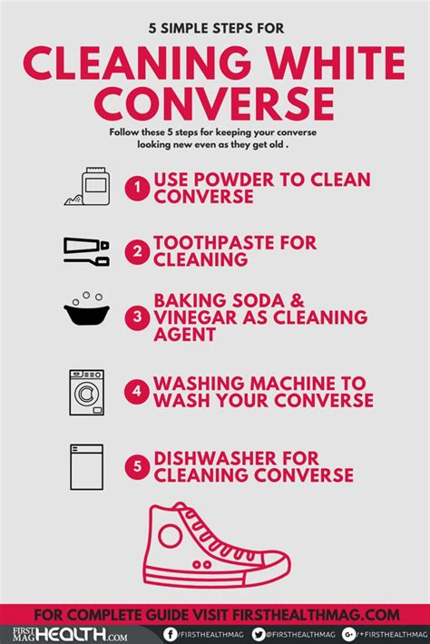clean  white converse   easy steps life hacks
