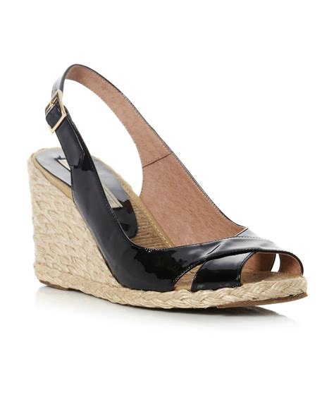 pied a terre lata cross v slingback wedge shoes in