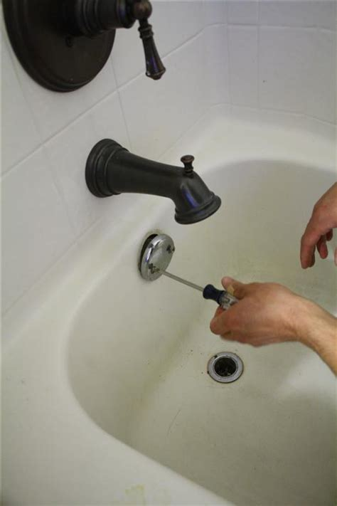 bathtub hardware replacement how to replace bathtub drain trim kit