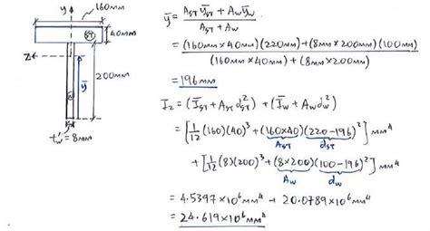 composite section properties calculator exle c2 2 composite beams solid mechanics ii