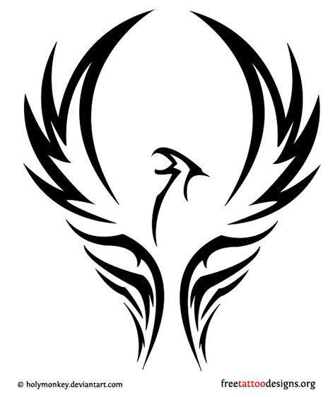 tribal phoenix tattoos designs