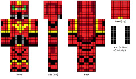 minecraft skin template grid statue templates design your own statue