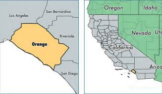 orange county california map of orange county ca