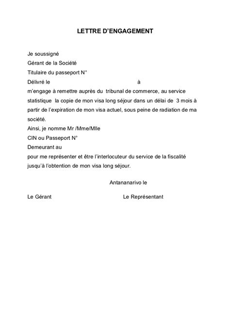 Attestation Engagement Letter Letter Of Application Modele De Lettre D Engagement De Travail