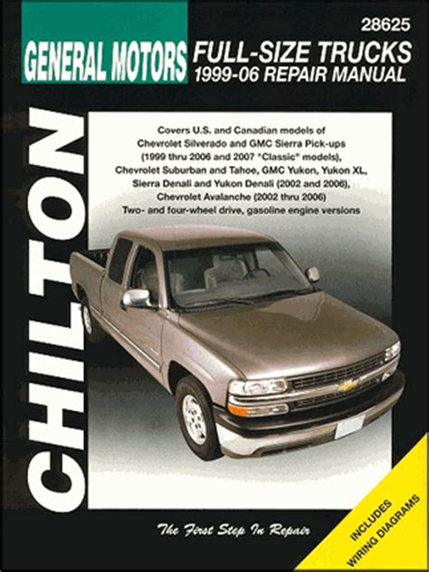 auto repair manual free download 1999 chevrolet silverado spare parts catalogs silverado sierra tahoe suburban yukon repair manual 1999 2006