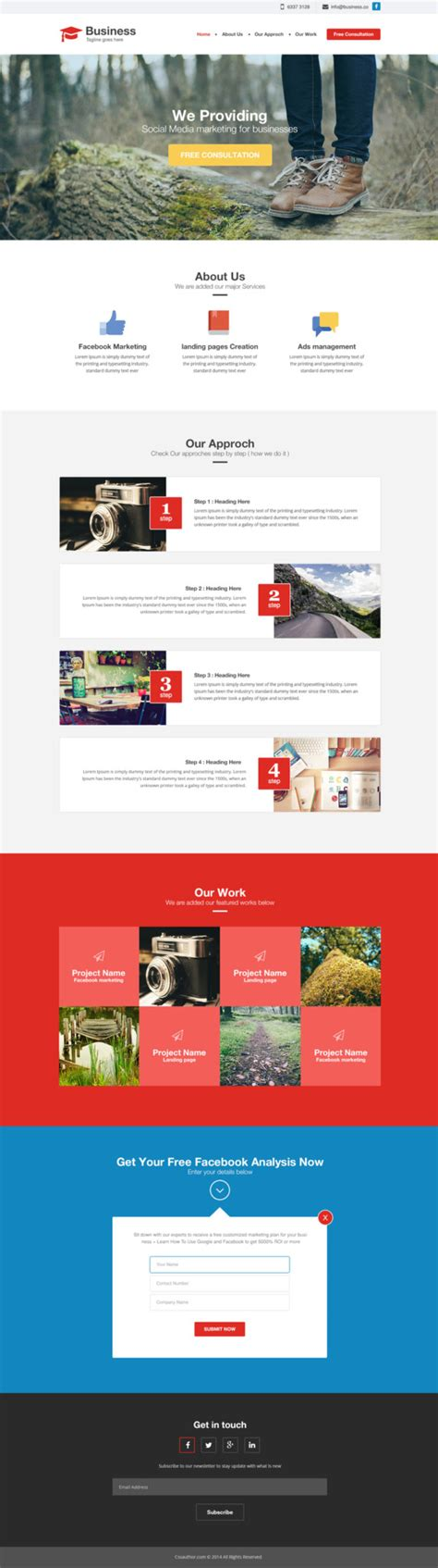 best free website templates for business top 3 free agency business website template psd in july