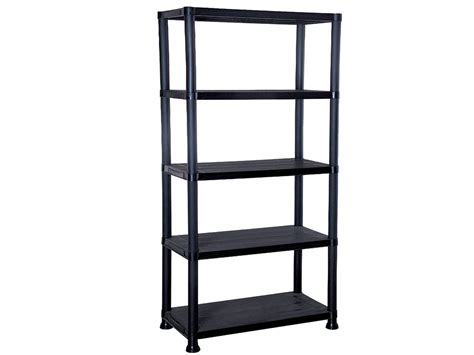 new 4 5 tier black plastic shelving unit storage garage