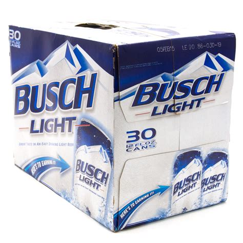 busch light 12oz cans 30 pack wine and