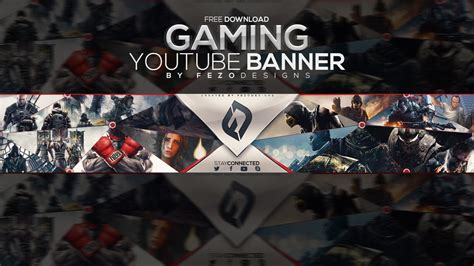 Pro Gaming Youtube Banner Template Fezodesigns Free Doovi Free Gaming Banner Template