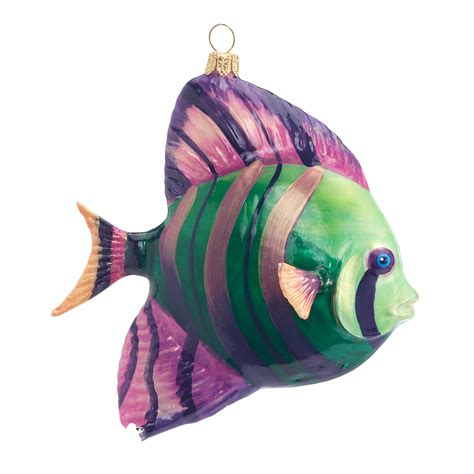 striped fish christmas ornament gump s