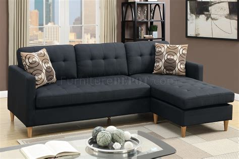 black fabric couches f7084 reversible sectional sofa in black fabric by boss