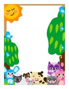 forest barnyard animals border