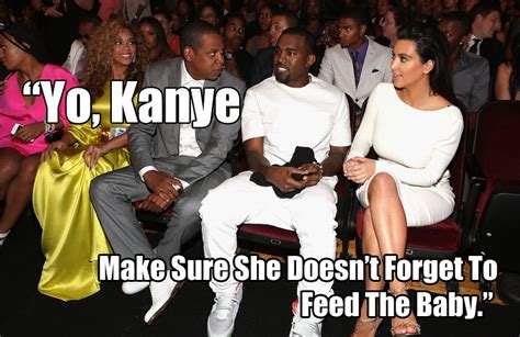 Kanye And Jay Z Meme - remind kim kardashian to feed her baby funny meme picture