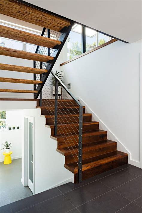 entryway flooring ideas staircase contemporary  cable