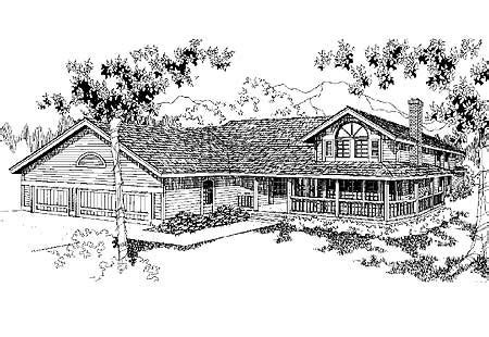 House Plans With Lots Of Glass by Country Home Plan With Lots Of Glass 7869ld