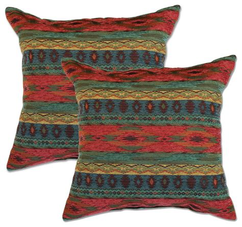 Southwestern Throw Pillows For by Sunset Accent Pillows Set Of 2 Southwestern