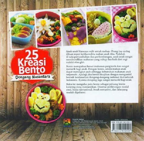 Buku Resep Ibento bukukita 25 kreasi bento dongeng nusantara