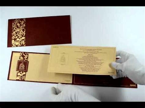 Handmade Indian Wedding Cards - d 762 color handmade paper hindu cards hindu