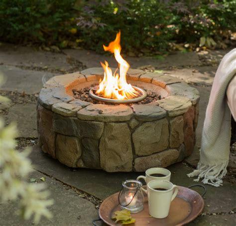 backyard propane pit gas pit outdoor backyard garden deck patio propane